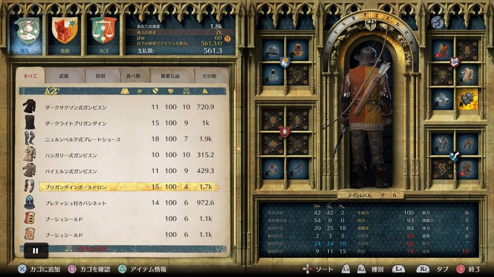 役に立つ戦闘Tips④:序盤は剣よりも防具にお金をつぎ込む