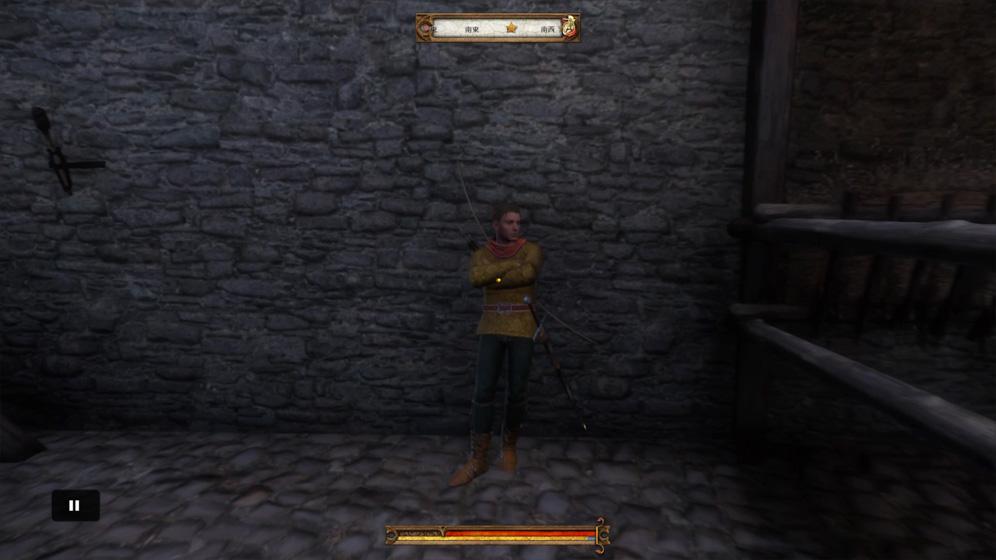 攻略チャート①:朝にラッタイ城中庭に行き、カポン卿に話しかける