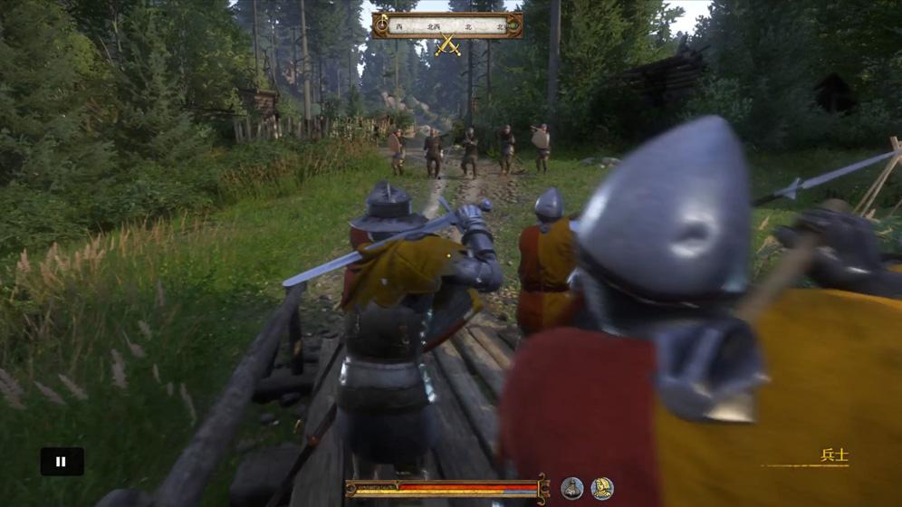 攻略チャート①:キャンプに入る入口の橋を確保する