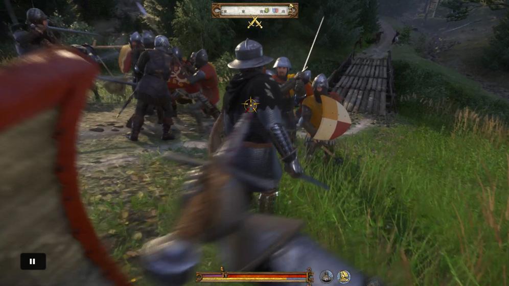 敵の後ろに回って背中から攻撃すると一方的に敵を倒すことが出来る