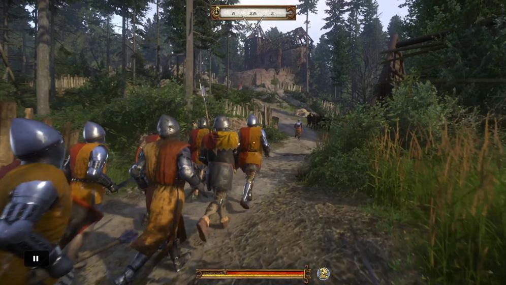 クマン人を倒しながらクマン人のキャンプへ進む